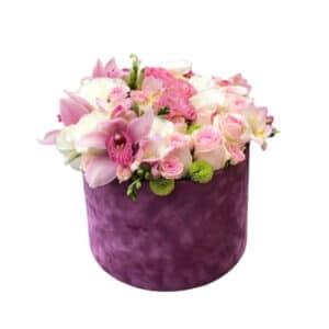 ljubicasti flower box