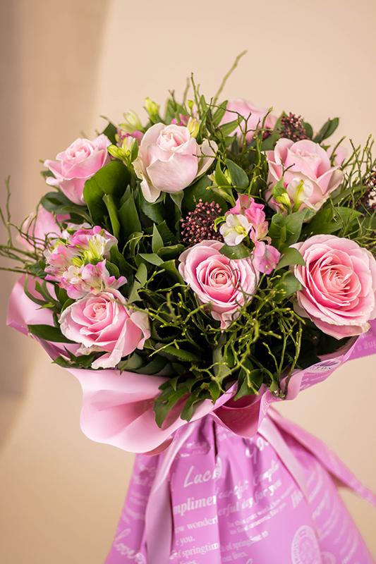 Buket roze ruza