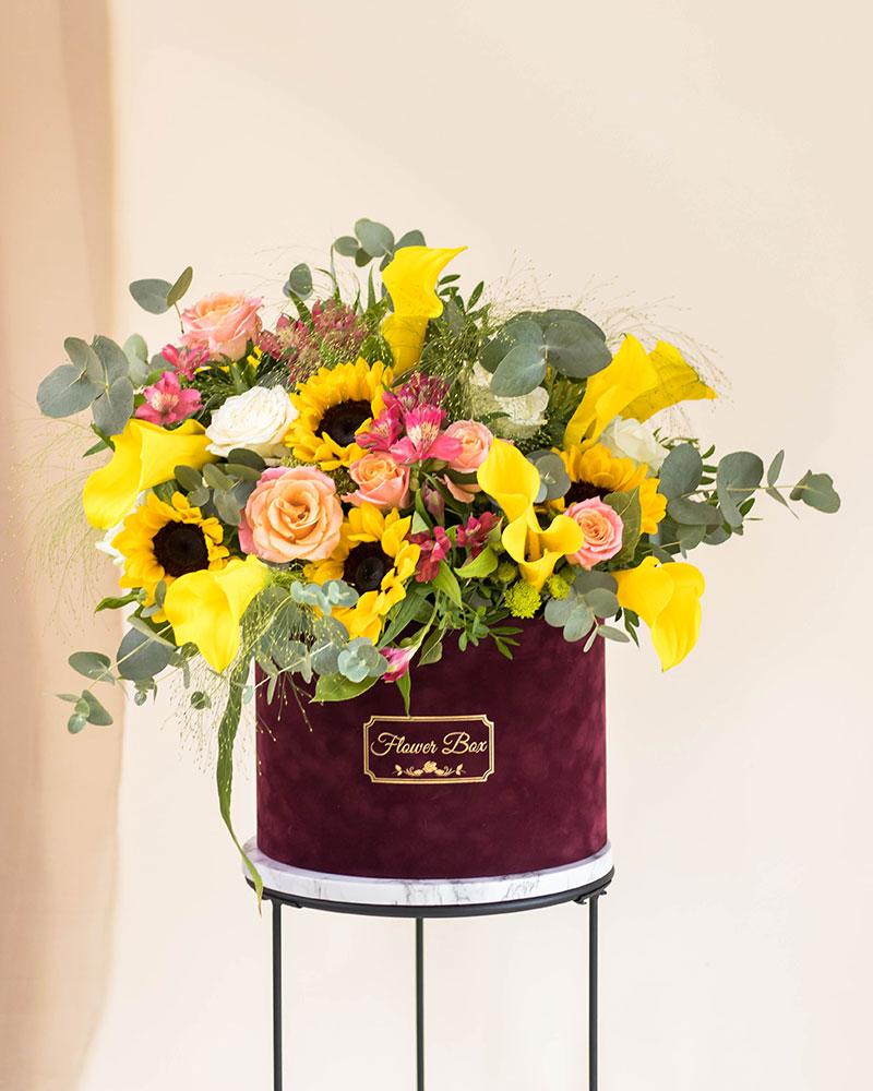 Flower box zute kale